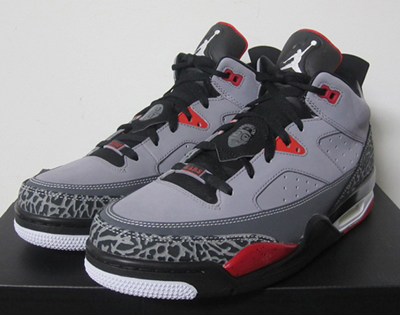 50948316e47d Jordan Son of Mars Low- Cement Grey White Black Fire Red